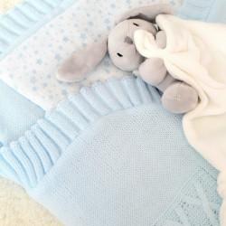 Nid d'ange tricot Bleu-detail