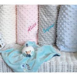 doudou poule et ses couvertures personnalisables-detail