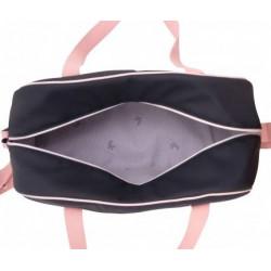 grand sac à langer rose imperméable-detail