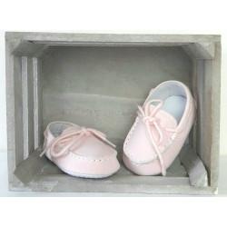 Chaussures bébé fille style mocassins-detail