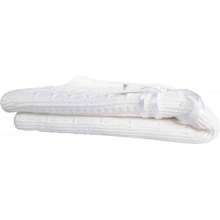 couverture laine blanche bébé