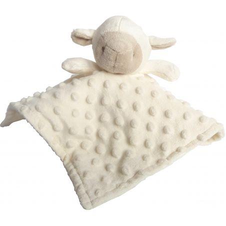 doudou mouton blanc brodé