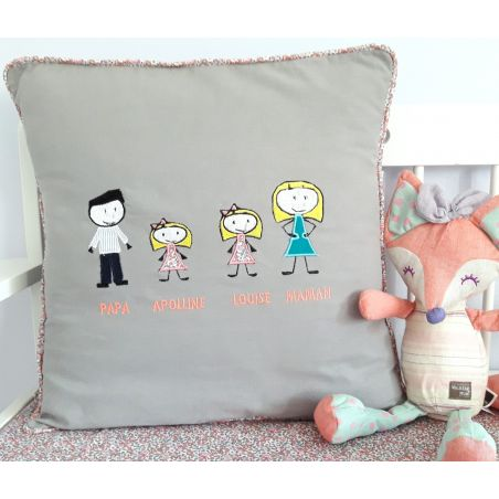 Coussin famille a personnaliser